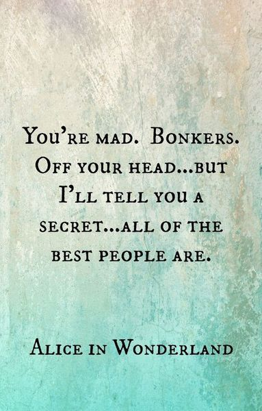All of the best people are BONKERS.