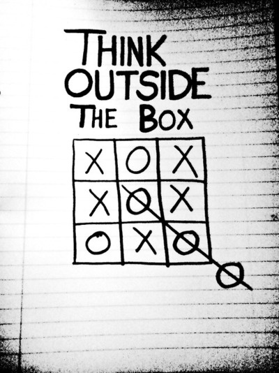 Outside the box.