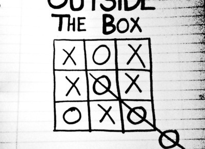 Outside the box.