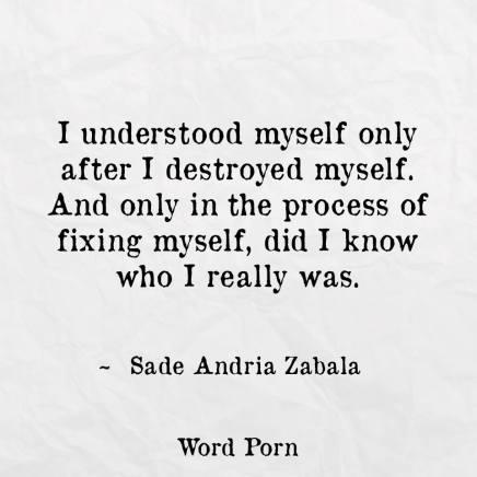 Only after I DestroyedMyself.
