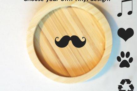 Custom Vinyl Design – Bamboo Coasters.Holla!