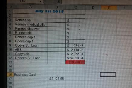 JULY 1ST DEBT UPDATE: UNDER 30,000 BEYOTTTCHES!:)