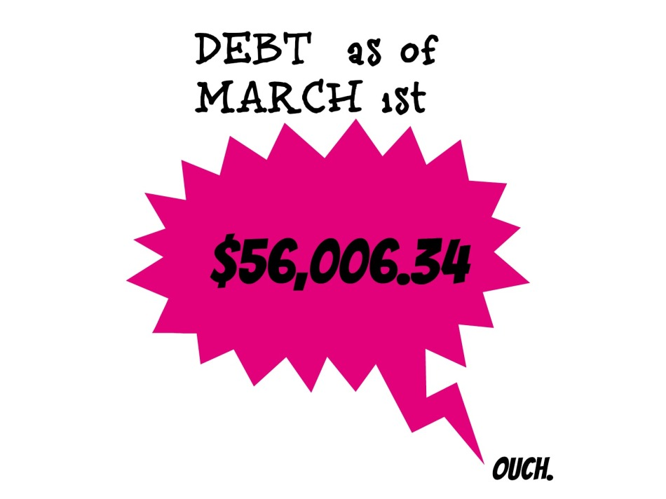 March DEBT! Let's start again, shall we?