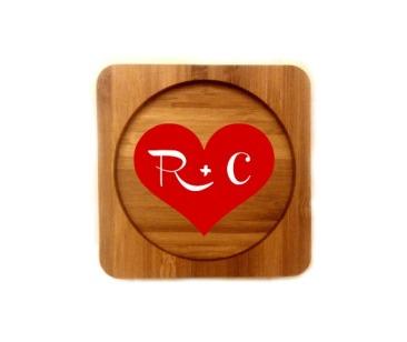R+C coasters